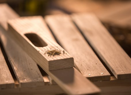 Image of wood with a hole